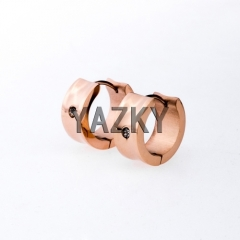 Fashion stainless steel earring-Rose gold color