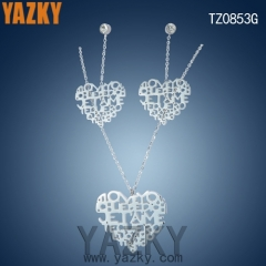 New heart letter stainless steel best selling jewerly set