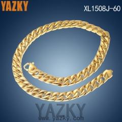 18K gold plating hip hop stainless steel factory chain necklace